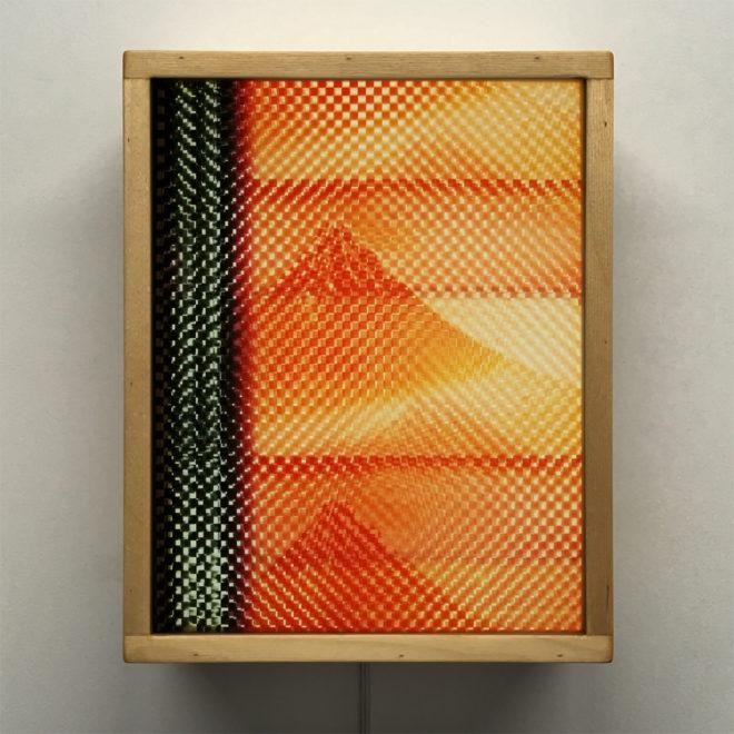 Mount Fuji Hokusai - Pixelated Filmstrip - 11x9 Led Lightbox by Mini-Cinema