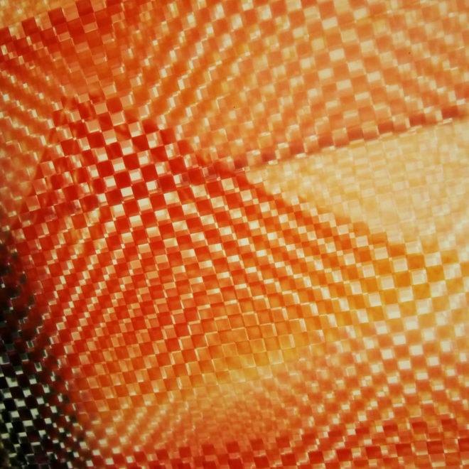 Mount Fuji Hokusai - Pixelated Filmstrip - 11x9 Led Lightbox by Mini-Cinema (Detail 2)
