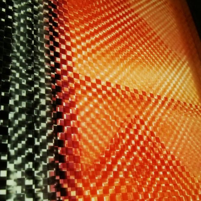 Mount Fuji Hokusai - Pixelated Filmstrip - 11x9 Led Lightbox by Mini-Cinema (Detail 3)