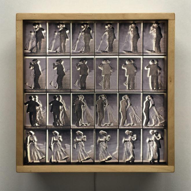 Muybridge Dancing Couple Animation Cycle – 12×12 Lightbox by Mini-Cinema / Hugo Cantin