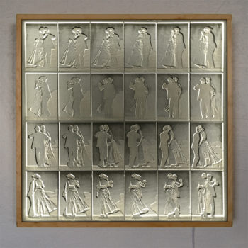 Muybridge Dancing Couple Animation Cycle - 20x20 Lightbox by Mini-Cinema