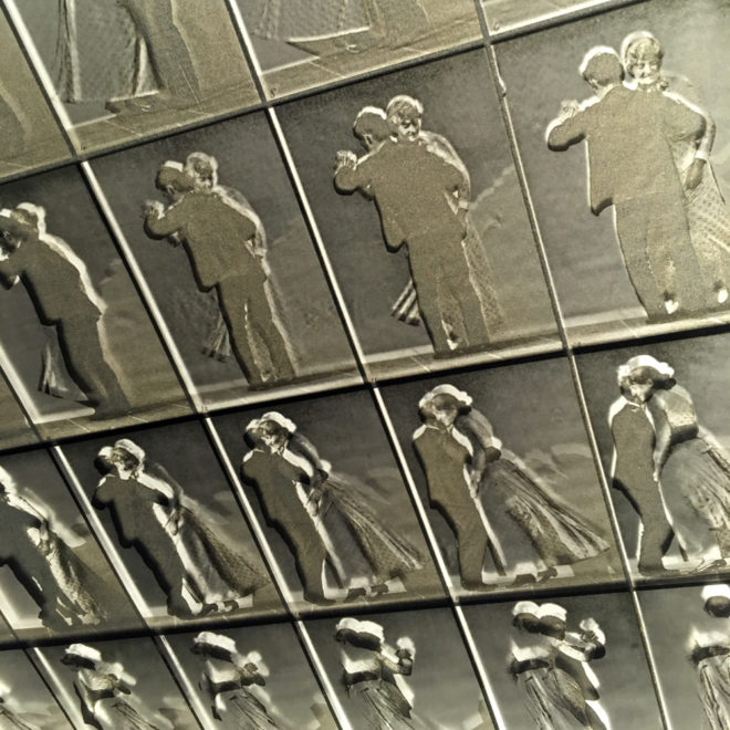 Muybridge Dancing Couple Animation Cycle - 20x20 Lightbox by Mini-Cinema (Detail 1)
