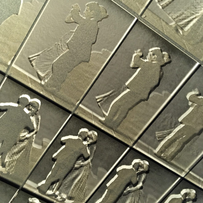 Muybridge Dancing Couple Animation Cycle - 20x20 Lightbox by Mini-Cinema (Detail 4)