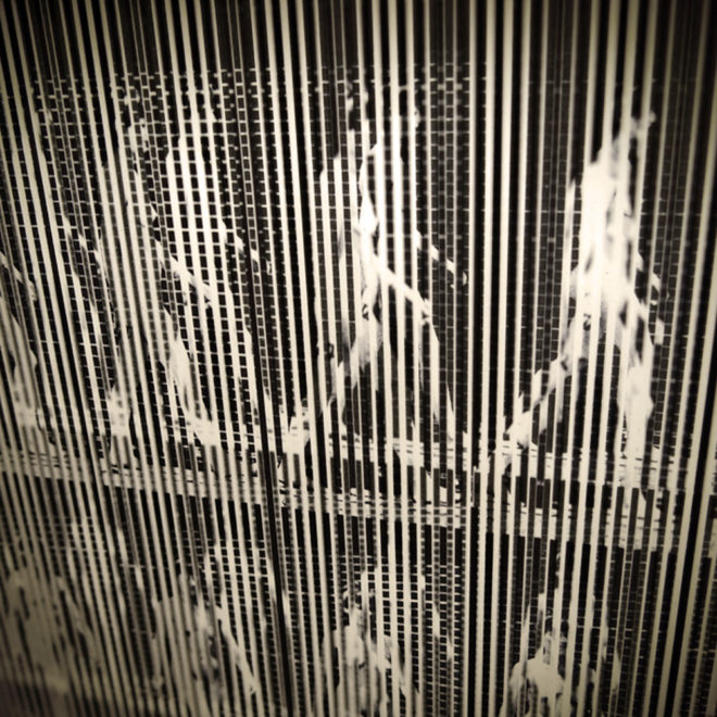 Muybridge Woman Walking Animation Cycle - Op Art 9x11 Led Lightbox by Mini-Cinema (Detail)