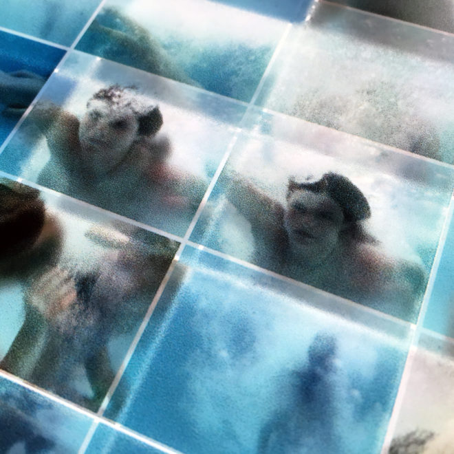 Naturist Pool Party Underwater Fun - 14x36 Led Lightbox by Mini-Cinema (Detail 1)