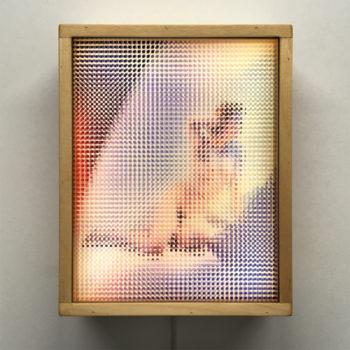 Paradies 1960s Magazine - Pixelated Glamour Girl - 11x9 Lightbox by Mini-Cinema