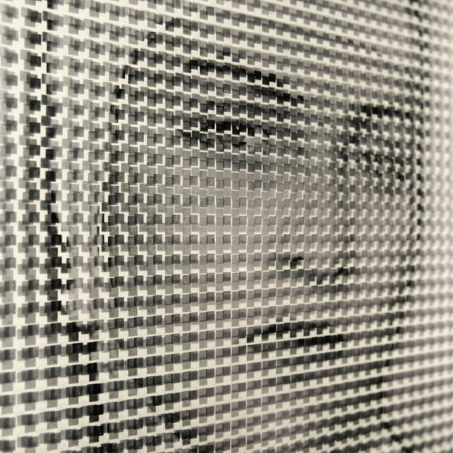 Pixelated Man Ray - 1930s Meret Oppenheim Portrait - 18x12 Lightbox by Mini-Cinema (Detail)
