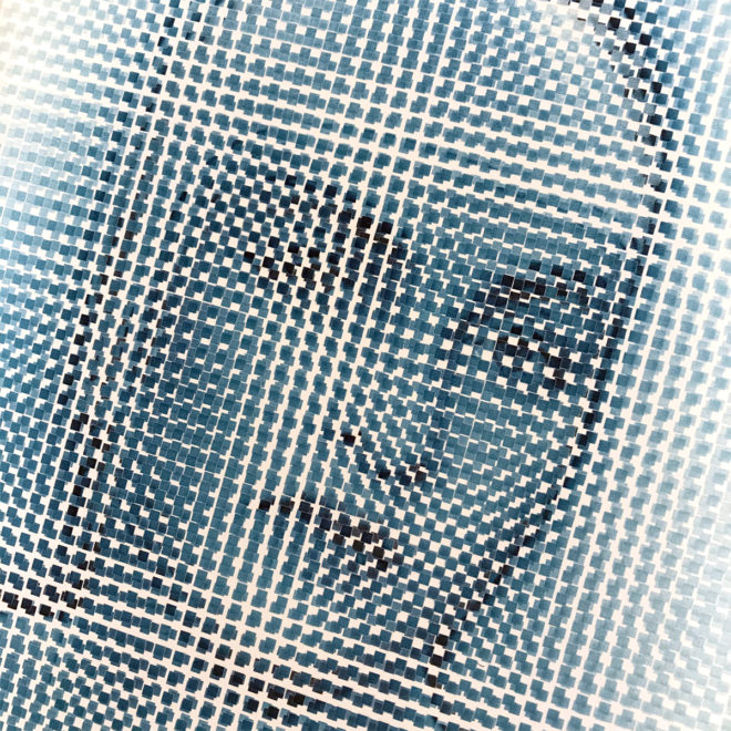 Pixelated Man Ray - 1930s Meret Oppenheim Vanishing Portrait - 18x12 Lightbox by Mini-Cinema -Close1