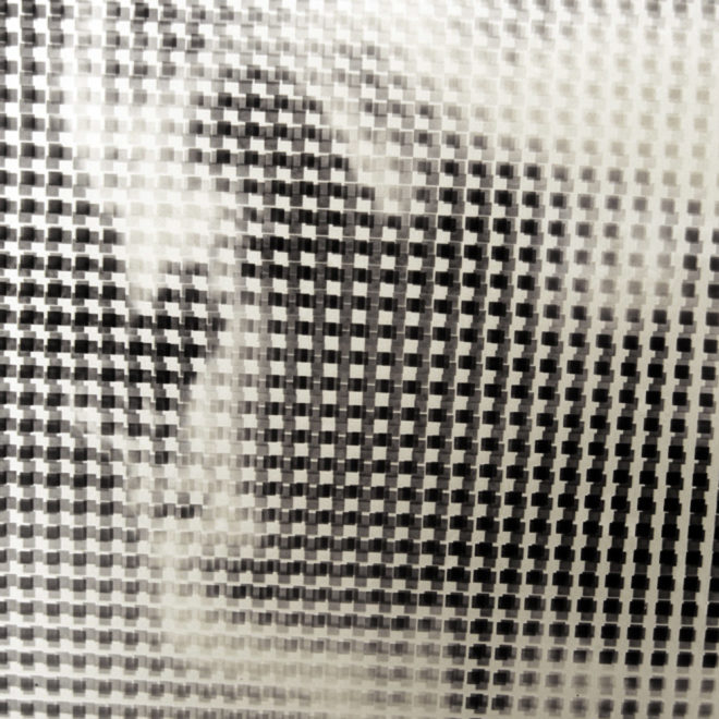 Pixelated Unknown Eerie Girl - 1930s Amateur Vanishing Portrait - 18x12 Lightbox by Mini-Cinema (Detail)