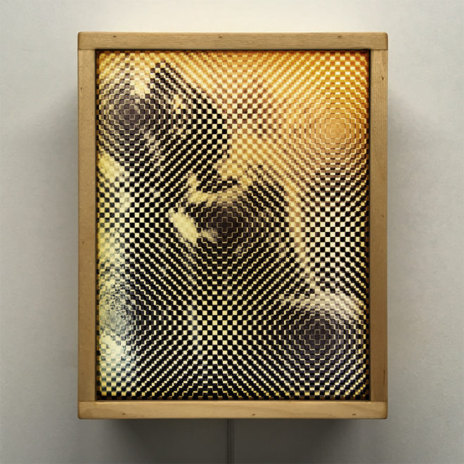 Monsieur X Pixelated Vintage Erotica - 11x9 Lightbox by Mini-Cinema