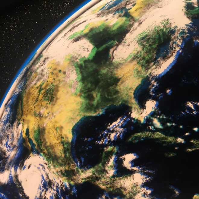 Planet Earth from Space Americas – 20x20 Led Lightbox by Mini-Cinema (Detail 1)