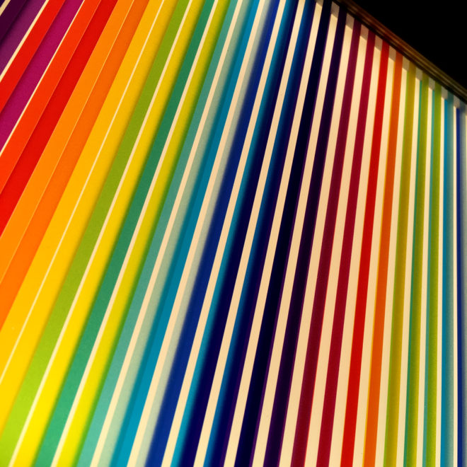 Prismacolor #1 Rainbow Optical Effect - 12×12 Lightbox by Mini-Cinema (Detail 2)