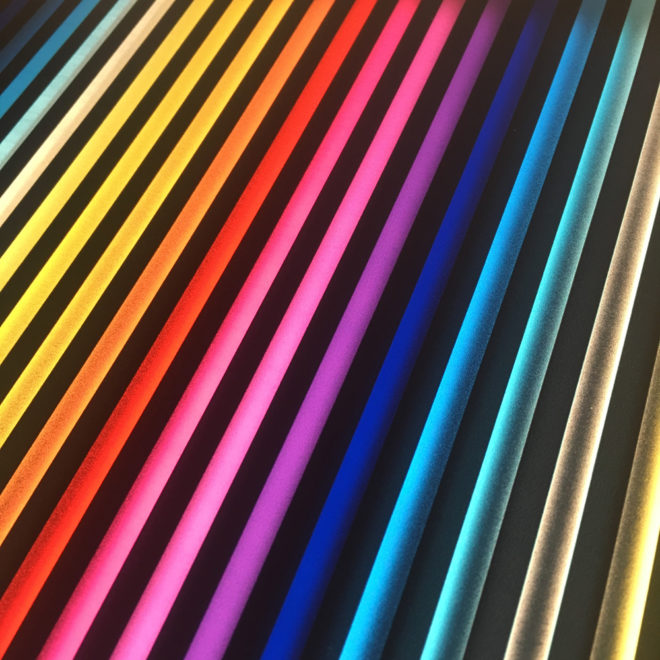 Prismacolor #2 Rainbow Optical Effect - 12×12 Lightbox by Mini-Cinema (Detail 2)