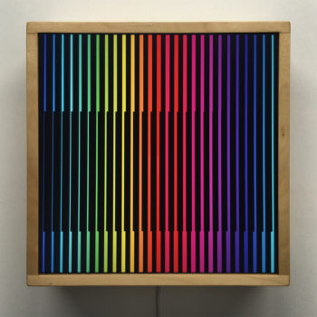 Prismacolor Interference #2 Rainbow Optical Effect - 12×12 Lightbox by Mini-Cinema
