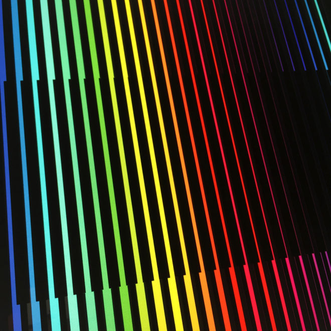 Prismacolor Interference #2 Rainbow Optical Effect - 12×12 Lightbox by Mini-Cinema (Detail 2)