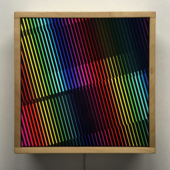 Prismacolor Interference #4 Rainbow Optical Effect - 12×12 Lightbox by Mini-Cinema