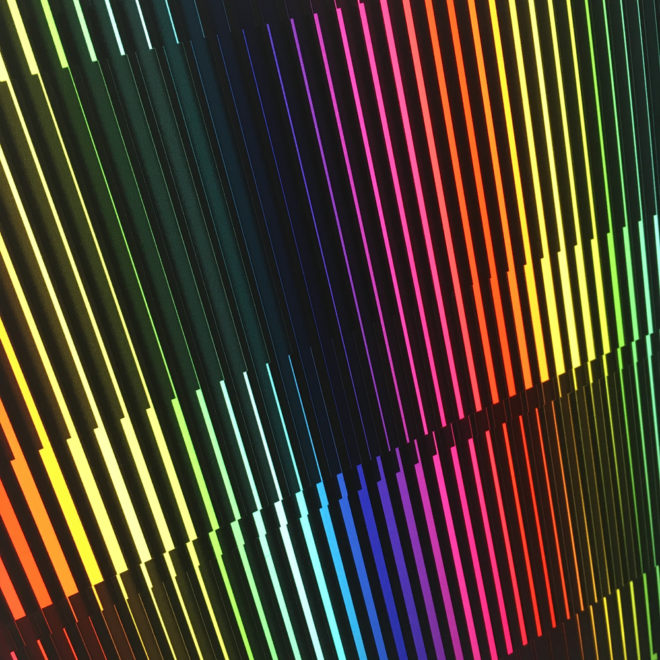 Prismacolor Interference #4 Rainbow Optical Effect - 12×12 Lightbox by Mini-Cinema (Detail 1)