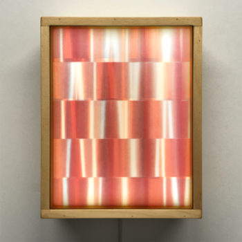 Psychedelic Aluminium Abstraction - 11x9 Led Lightbox by Mini-Cinema