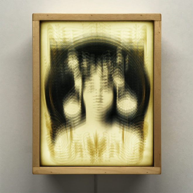 Psychedelic Art Nouveau – 1910s Burlesque Postcard Parallel – 11×9 Lightbox by Mini-Cinema