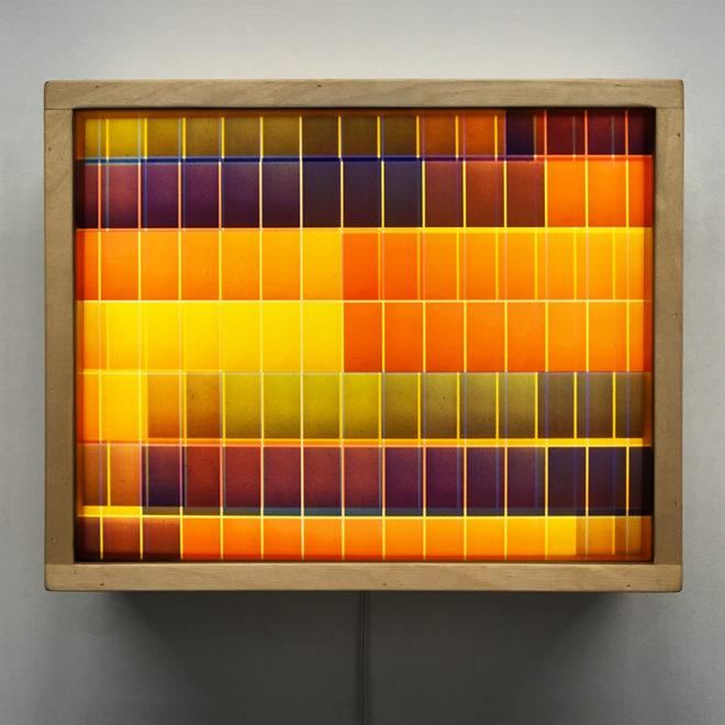 Psychedelic Color Variations Film Keyframes #9 - 9x11 Led Lightbox by Mini-Cinema