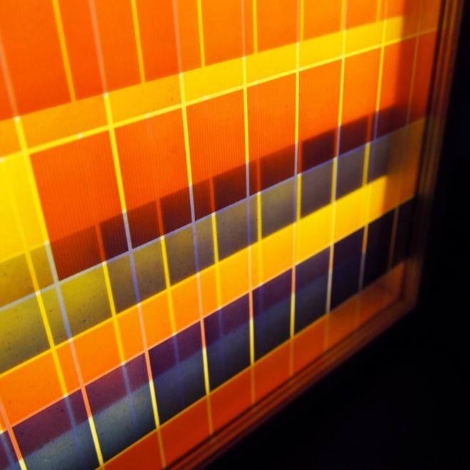 Psychedelic Color Variations Film Keyframes #9 - 9x11 Led Lightbox by Mini-Cinema (Detail)