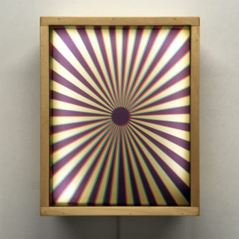 Psychedelic Sunshine Abstraction - 11x9 Led Lightbox by Mini-Cinema
