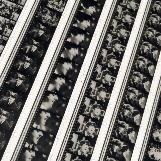 The Beatles 1964 Tv Show Outtakes 1 - Rare 16mm Film Collage - 12x12 Lightbox by Mini-Cinema (Detail)