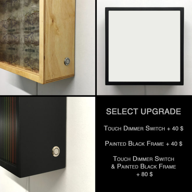 Upgrade Option Package :: Painted black frame / Touch dimmer switch