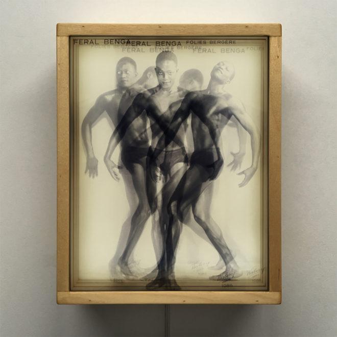 Vanishing Dancer Feral Benga 1930s Burlesque Folies Bergeres - 11x9 Lightbox by Mini-Cinema