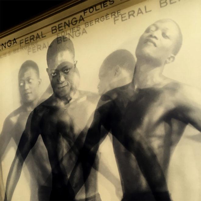 Vanishing Dancer Feral Benga 1930s Burlesque Folies Bergeres - 11x9 Lightbox by Mini-Cinema (Detail)
