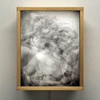 Vanishing Lovers Kiss - Multiple Print Depth Effect - 11x9 Lightbox by Mini-Cinema