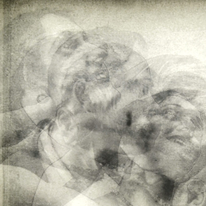 Vanishing Lovers Kiss - Multiple Print Depth Effect - 11x9 Lightbox by Mini-Cinema (Detail)
