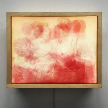 Vanishing Lovers Pink Romance - Multiple Print Depth Effect - 9x11 Lightbox by Mini-Cinema