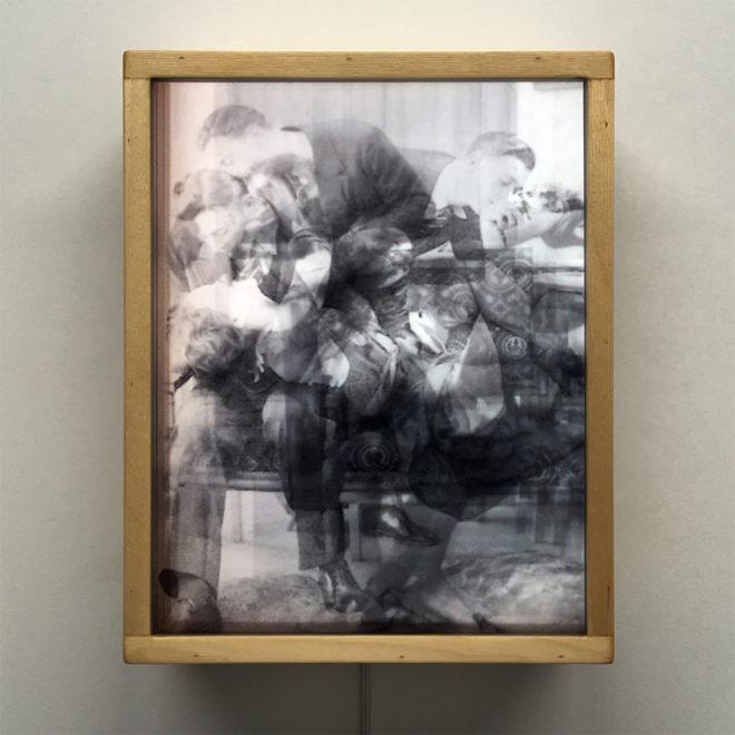 Vanishing Lovers Private Salon - Multiple Print Depth Effect - 11x9 Lightbox by Mini-Cinema