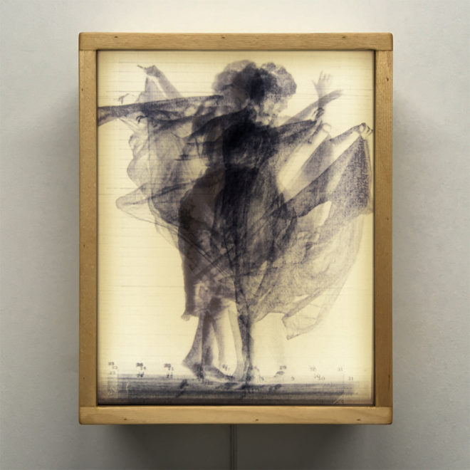 Vanishing Muybridge Dancing Fancy - 11x9 Led Lightbox by Mini-Cinema