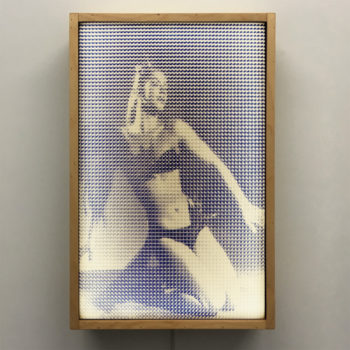 Vodevil 1950s Mexican Magazine - Pixelated Exotic Dancer - 18x12 Lightbox by Mini-Cinema