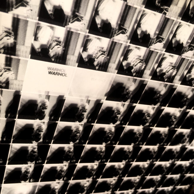 Warhol Shooting Polaroids – Black and White Cinema Grid – 11x9 Led Lightbox by Mini-Cinema (Detail2)