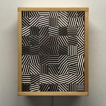 Zebras Vibration - Psychedelic Abstract Pattern Optical Effect – 11x9 Lightbox by Mini-Cinema