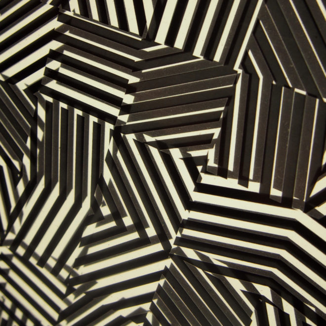 Zebras Vibration - Psychedelic Abstract Pattern Optical Effect – 11x9 Lightbox by Mini-Cinema (Detail)