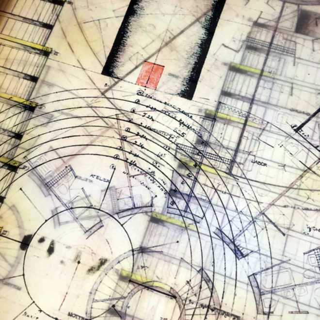Bruder Rasch Masterplan - Mid Century Architecture Sketches - 12x12 Lightbox by Mini-Cinema (Detail 2)