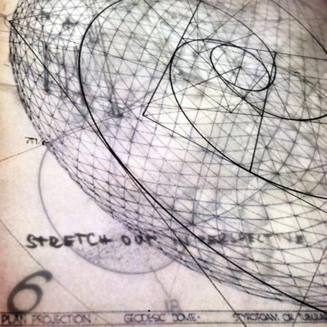 Bucky's Masterplan #3 - Mid Century Architecture Sketches - 12x12 Lightbox by Mini-Cinema (Detail 2)