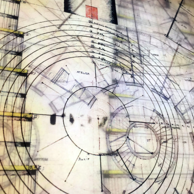 Bruder Rasch Masterplan - Mid Century Architecture Sketches - 12x12 Lightbox by Mini-Cinema (Detail 3)