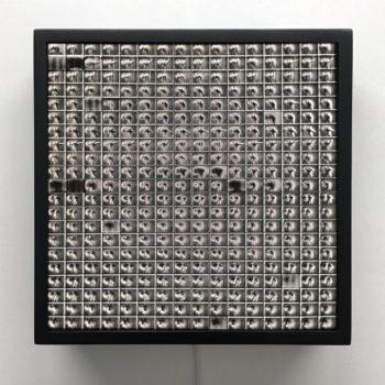 1950s Burlesque Silver Dancer - Double Print Optical Illusion - 12x12 Lightbox by Mini-Cinema / Hugo Cantin