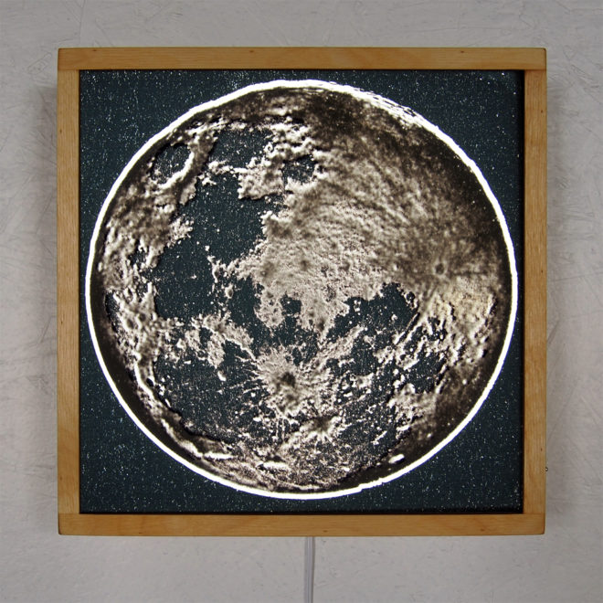 Full Moon from Space – 12x12 Led Lightbox by Mini-Cinema
