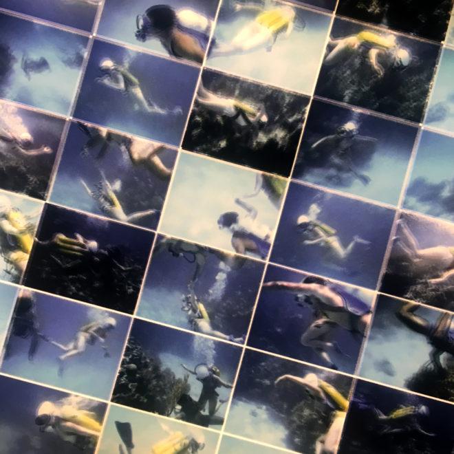 Tiger Reef Dive #2 – Underwater Film Keyframes – 7x28 Led Lightbox by Mini-Cinema (Detail)