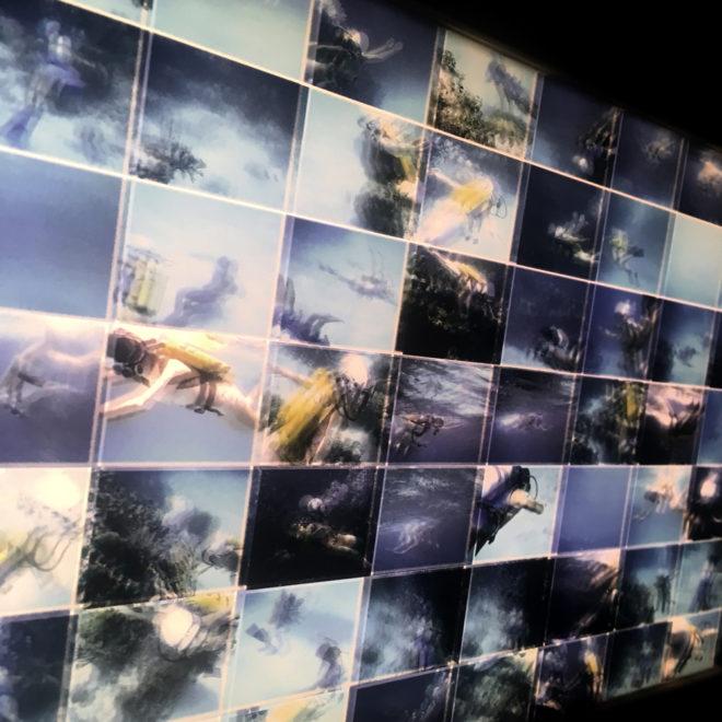 Tiger Reef Dive – Film Keyframes – 28×7 Led Lightbox (detail1) by Hugo Cantin / Mini-Cinema