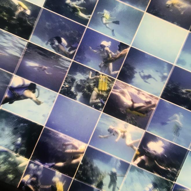 Tiger Reef Dive – Film Keyframes – 28×7 Led Lightbox (detail3) by Hugo Cantin / Mini-Cinema