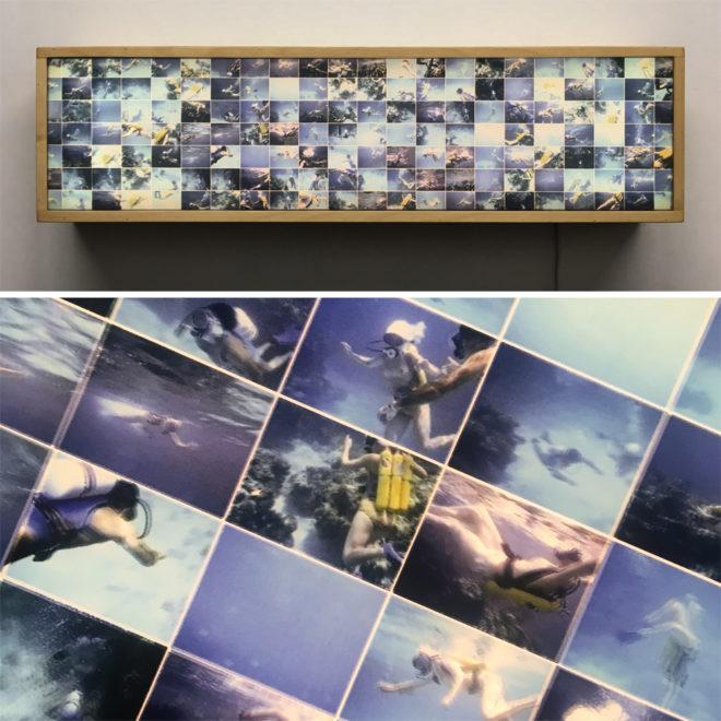 Tiger Reef Dive – Film Keyframe Animation – 28×7 Led Lightbox by Hugo Cantin / Mini-Cinema
