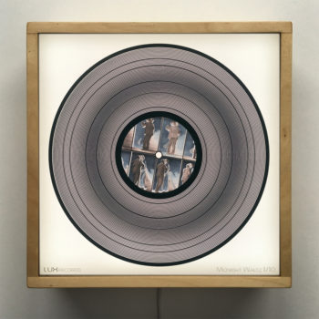Midnight Waltz 11x11 Lightbox - Spinning Lux Records Op Art by Mini-Cinema