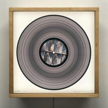 Midnight Waltz 11x11 Lightbox - Spinning Lux Records Op Art by Mini-Cinema